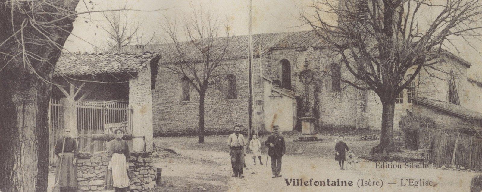 Histoire de Villefontaine, l'église et les habitants