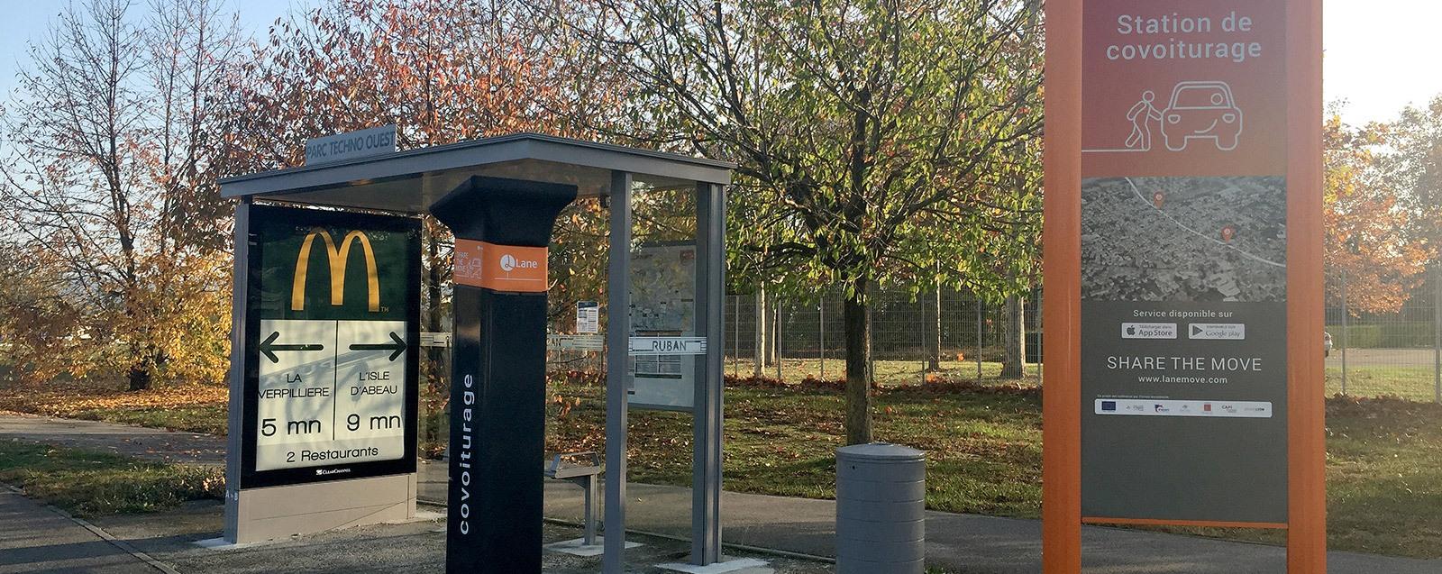 Station de covoiturage LANE à Villefontaine, Parc Techno Ouest