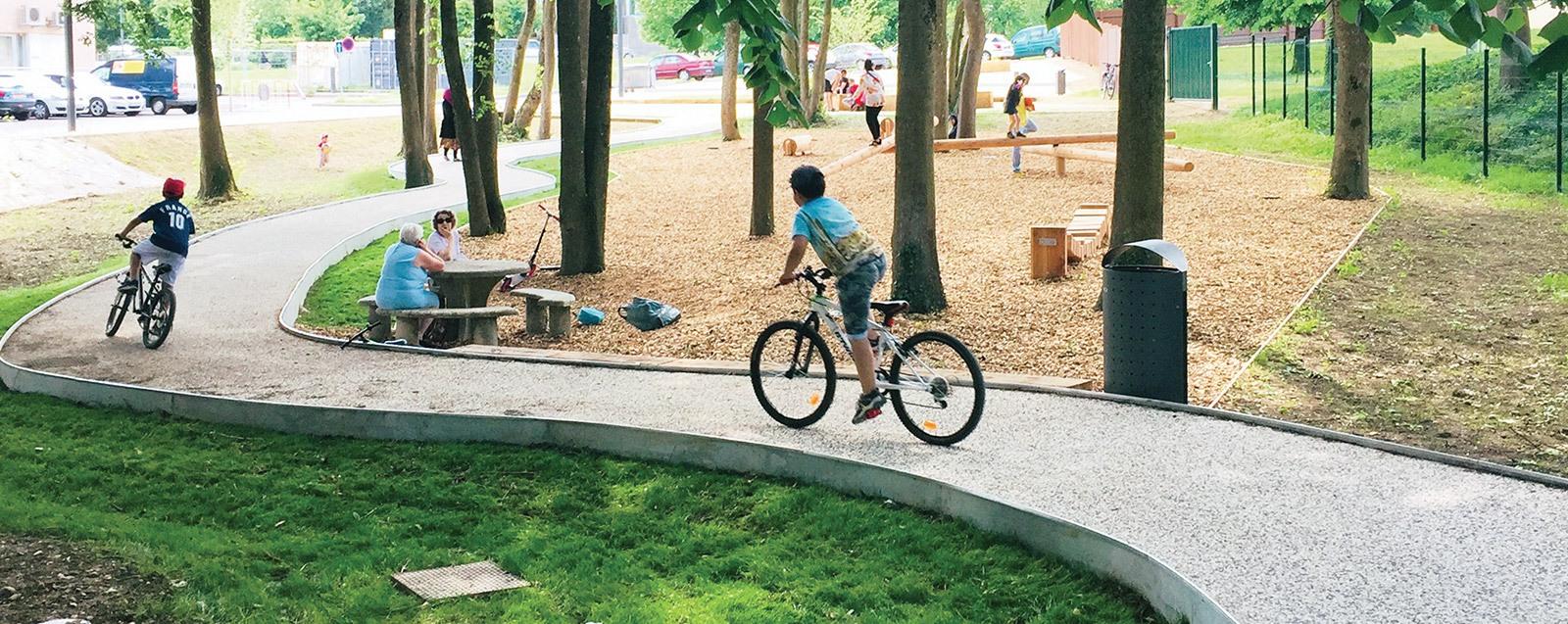 Villefontaine – nouveau square urbain rue Serge Mauroit