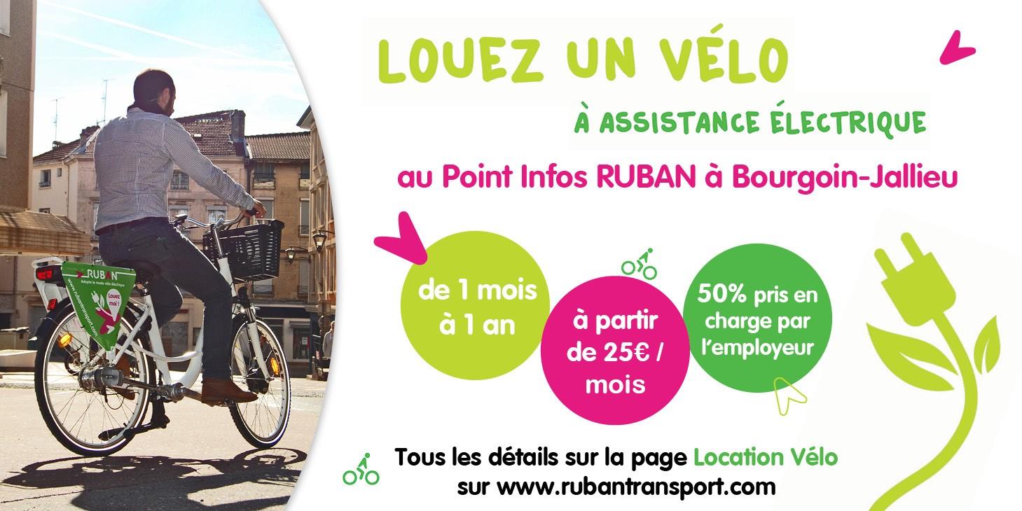 Louez un vélo a assitance electrique RUBAN