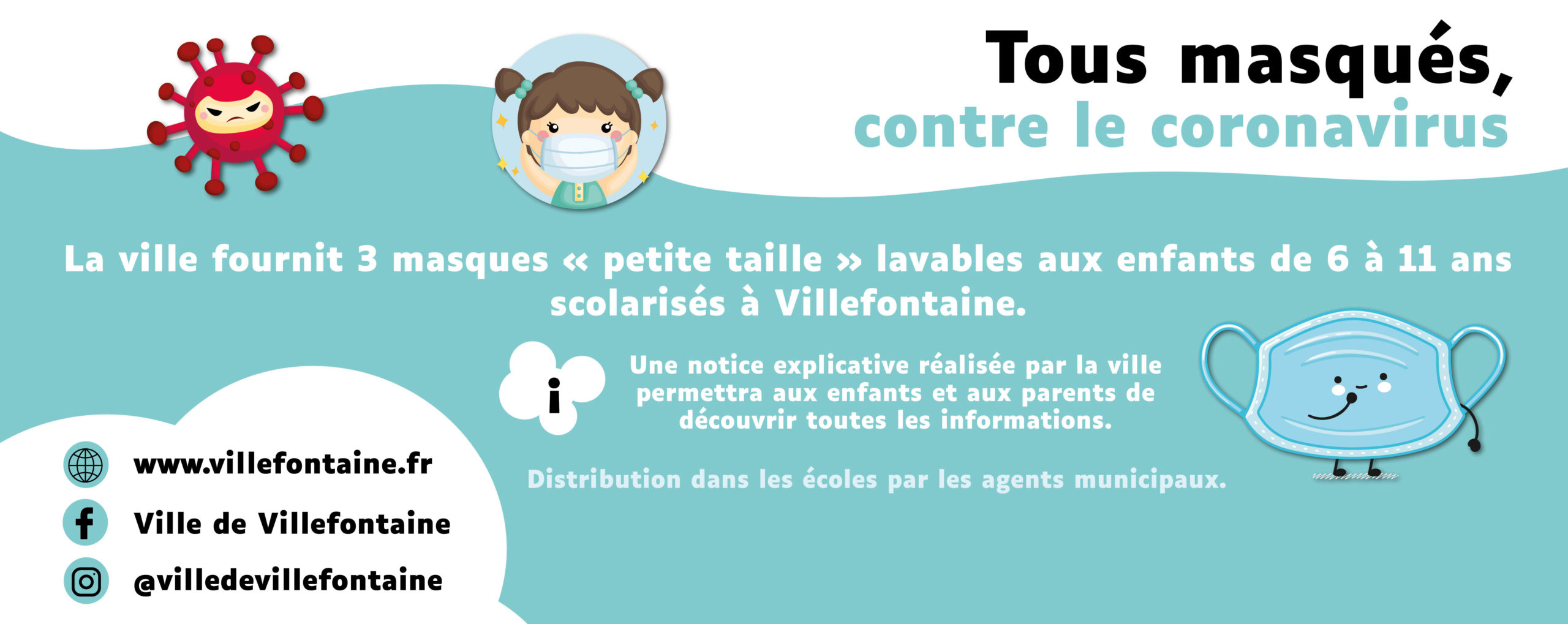 Focus - article site - masques enfants