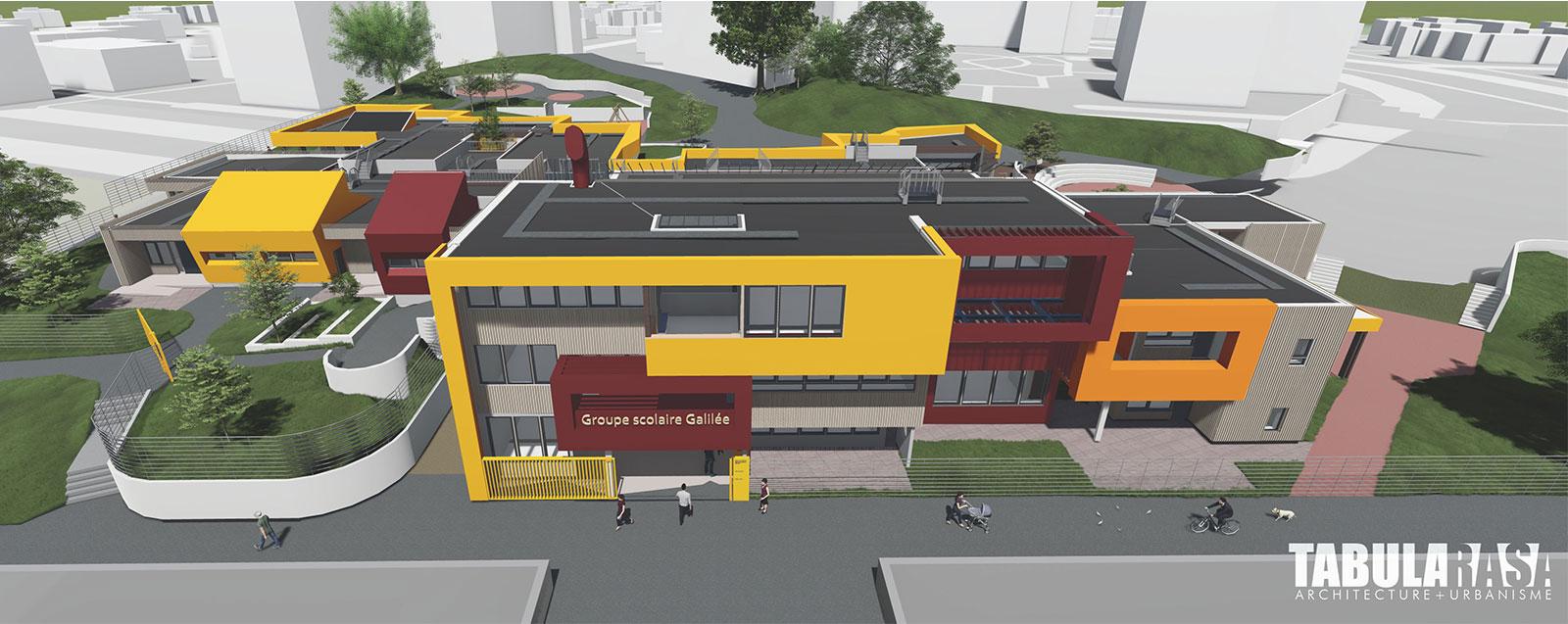 Réhabilitation École Galilée - © Tabula Rasa